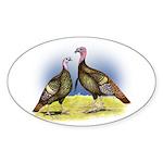 Rio Grande Wild Turkeys Oval Sticker (50 pk)