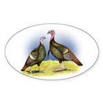 Rio Grande Wild Turkeys Oval Sticker (10 pk)