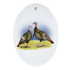 Rio Grande Wild Turkeys Oval Ornament
