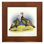 Rio Grande Wild Turkeys Framed Tile
