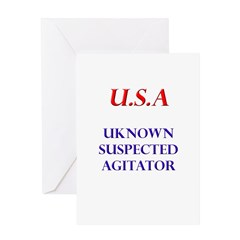 USA (unknown suspected agitat Greeting Card