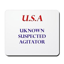 USA (unknown suspected agitat Mousepad