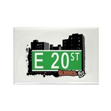 E 20 STREET, QUEENS, NYC Rectangle Magnet