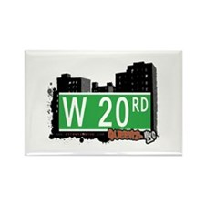 W 20 ROAD, QUEENS, NYC Rectangle Magnet