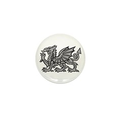 Grey Dragon Mini Button (10 pack)