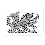 Grey Dragon Rectangle Sticker