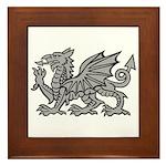 Grey Dragon Framed Tile