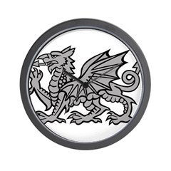 Grey Dragon Wall Clock