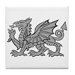 Grey Dragon Tile Coaster