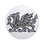 Grey Dragon Ornament (Round)