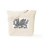 Grey Dragon Tote Bag
