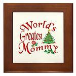 World's Greatest Mommy Framed Tile