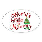 World's Greatest Mommy Oval Sticker
