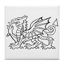 White Dragon Tile Coaster