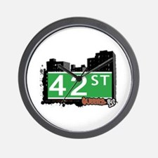42 STREET, QUEENS, NYC Wall Clock