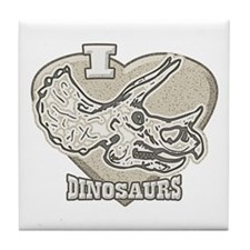 I Love Dinosaurs Tile Coaster