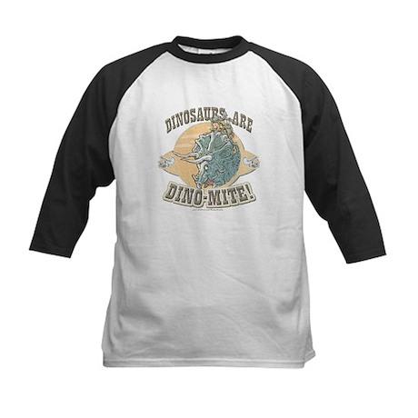 Girls Dinosaurs R Dino-Mite Kids Baseball Jersey