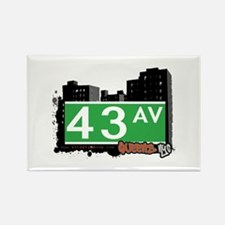43 AVENUE, QUEENS, NYC Rectangle Magnet