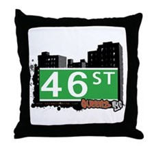 46 STREET, QUEENS, NYC Throw Pillow