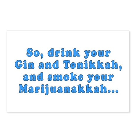 'Gin and Tonikkah' Postcards (Pack of 8)