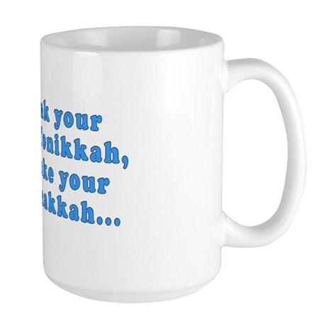 'Gin and Tonikkah, Marijuanakkah' Large Mug