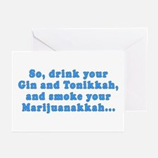 'Gin and Tonikkah' Greeting Cards (Pack of 6)