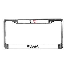 I love ADAM License Plate Frame
