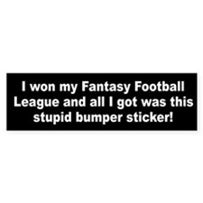 I won my Fantasy Football League (Bumper Sticker)