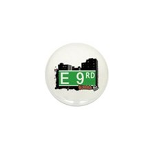 E 9 ROAD, QUEENS, NYC Mini Button (10 pack)