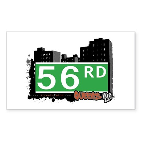 56 ROAD, QUEENS, NYC Rectangle Sticker