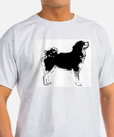 Tibetan Mastiff Ash Grey T-Shirt