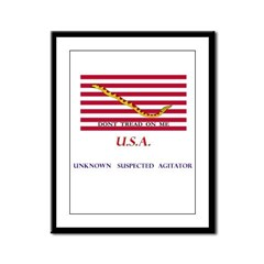 USA (unknown suspected agitat Framed Panel Print