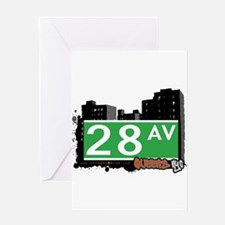 28 AVENUE, QUEENS, NYC Greeting Card