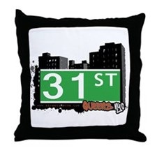 31 STREET, QUEENS, NYC Throw Pillow