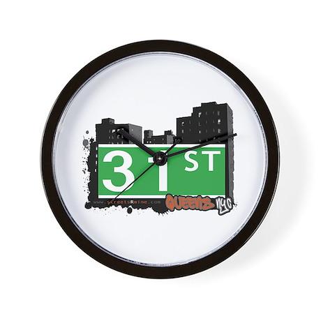 31 STREET, QUEENS, NYC Wall Clock