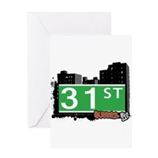 31 STREET, QUEENS, NYC Greeting Card