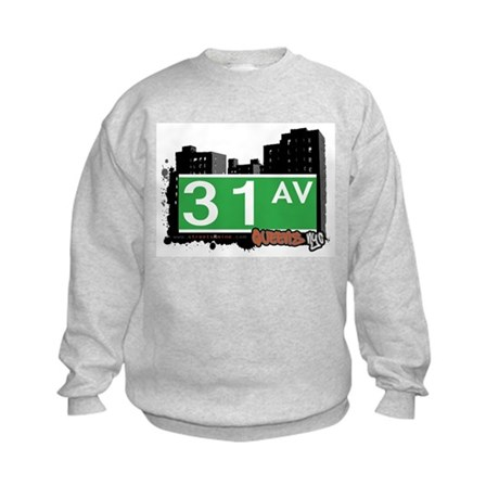31 AVENUE, QUEENS, NYC Kids Sweatshirt