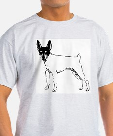 Toy Fox Terrier Ash Grey T-Shirt