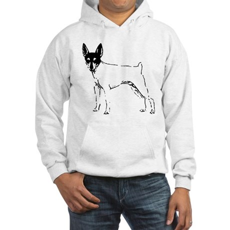 Toy Fox Terrier Hooded Sweatshirt