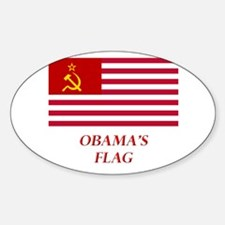 Obama's New Flag Oval Decal