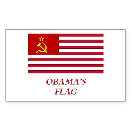 Obama's New Flag Rectangle Sticker