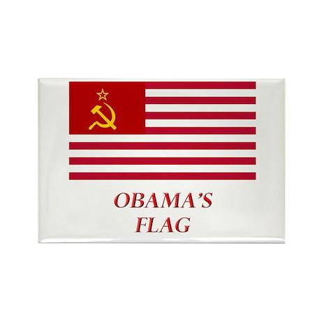 Obama's New Flag Rectangle Magnet (100 pack)