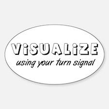 Turn Signal Oval Sticker - Black