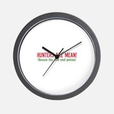 Hunters are mean! Wall Clock