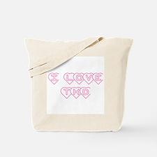 I Love TKD Tote Bag