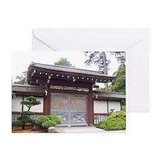 Japanese Gate Greeting Card