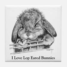 Lop Eared Bunny Tile Coaster