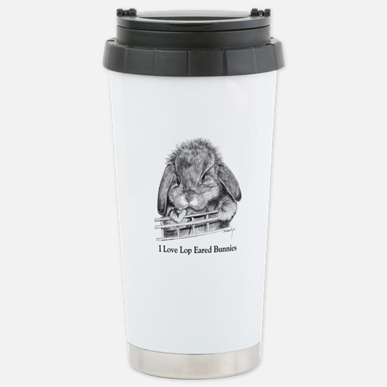 Lop Eared Bunny Stainless Steel Travel Mug