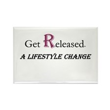 GetReleased Rectangle Magnet (100 pack)