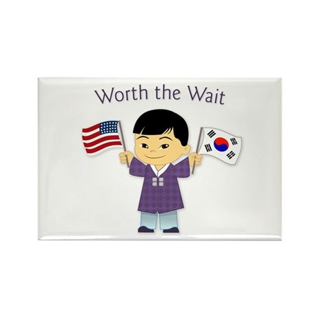 Worth the Wait ~ Korea Rectangle Magnet (10 pack)
